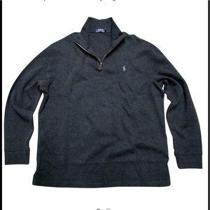 Polo Ralph Lauren Half ZIP Cotton Pull Over L EUc